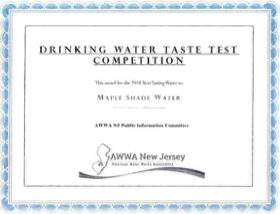 Drinking Water Taste Test Competition Award image 04-05-18
