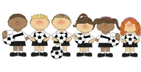 Kids with soccer balls
